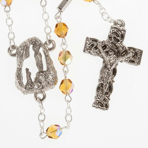 Ghirelli rosary, amber, Lourdes grotto 6mm 1
