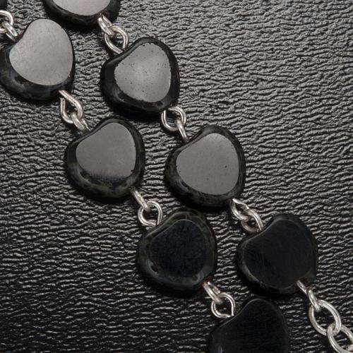 Chapelet Ghirelli noir coeur Lourdes 8 mm 5