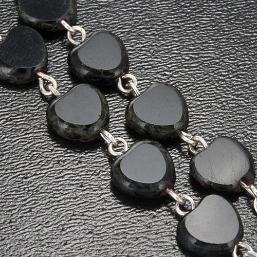 Chapelet Ghirelli noir coeur Lourdes 8 mm 6