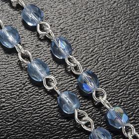 Rosenkranz von Ghirelli Grotte von Lourdes hellblauer Kristall 4 mm s5