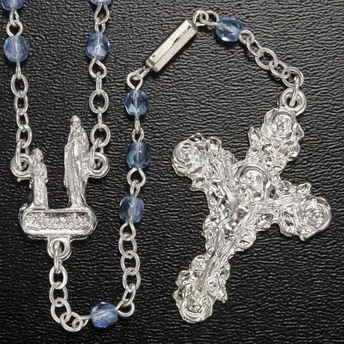 Chapelet Ghirelli cristal bleu clair Lourdes 4 mm 2
