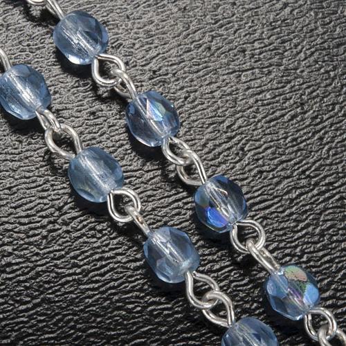 Chapelet Ghirelli cristal bleu clair Lourdes 4 mm 5