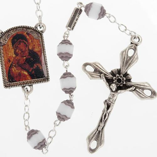 Rosario Ghirelli grano cortado ícono Madre de Dios Vladim 1