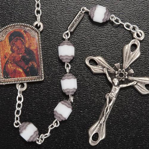 Rosario Ghirelli grano cortado ícono Madre de Dios Vladim 2