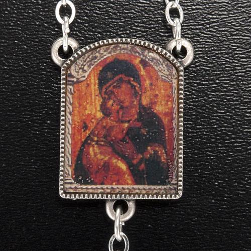 Rosario Ghirelli grano cortado ícono Madre de Dios Vladim 3
