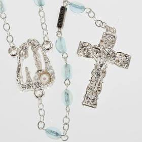 Ghirelli rosary Lourdes Grotto, light blue 6x4mm s1