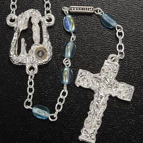 Ghirelli rosary Lourdes Grotto, light blue 6x4mm s2