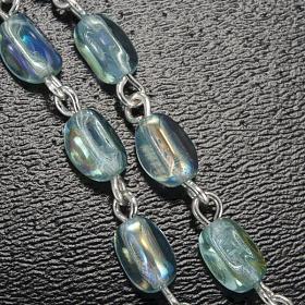 Ghirelli rosary Lourdes Grotto, light blue 6x4mm s5