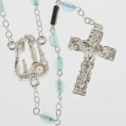 Ghirelli rosary Lourdes Grotto, light blue 6x4mm 1