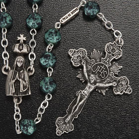 Ghirelli rosary, Our Lady of Fatima, metallic 7mm s2