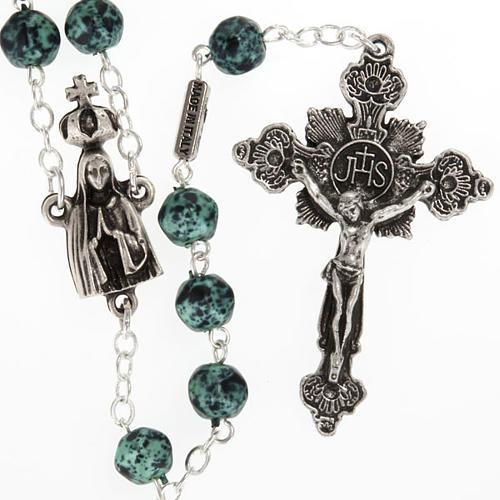 Ghirelli rosary, Our Lady of Fatima, metallic 7mm 1
