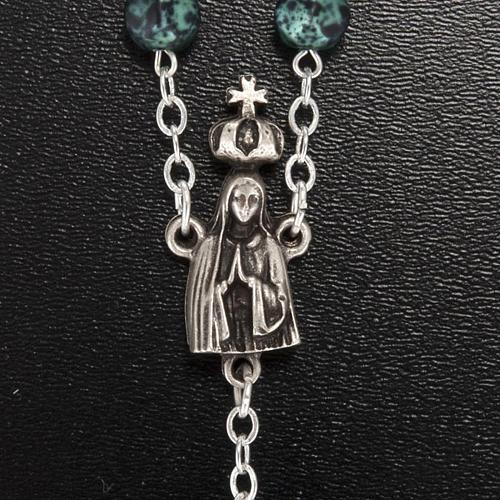 Ghirelli rosary, Our Lady of Fatima, metallic 7mm 3