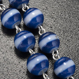 Ghirelli blue and white rosary Lourdes Grotto 8mm s5