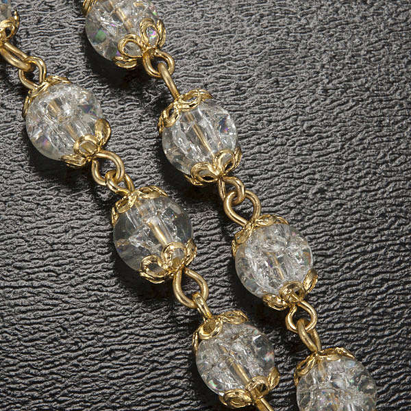 Rosario Ghirelli Lourdes coppiglie oro 6 mm 4