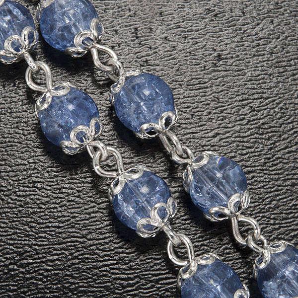 Ghirelli rosary, Fatima light blue 6mm 4