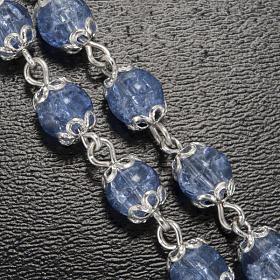 Ghirelli rosary, Fatima light blue 6mm s5