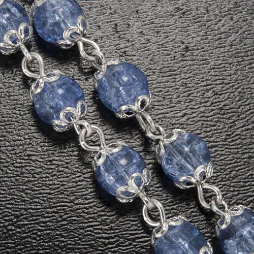 Ghirelli rosary, Fatima light blue 6mm 5