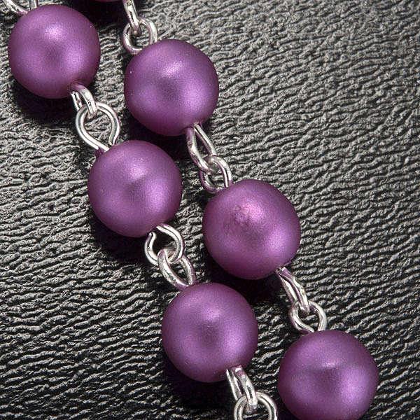 Ghirelli rosary, Lourdes, purple 6mm 4