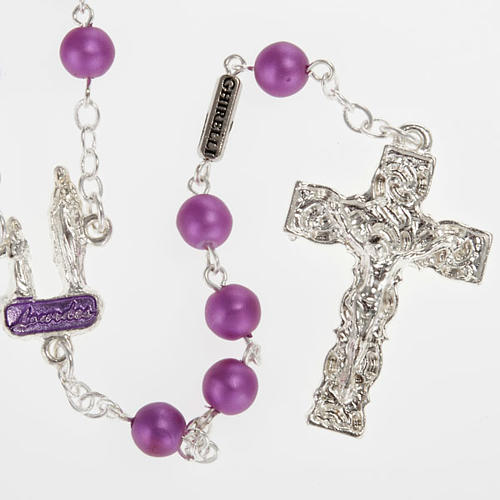 Ghirelli rosary, Lourdes, purple 6mm 1