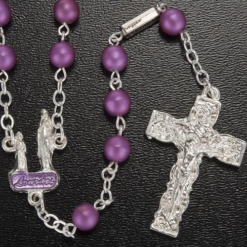 Ghirelli rosary, Lourdes, purple 6mm 2