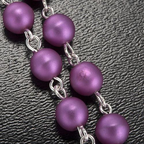 Ghirelli rosary, Lourdes, purple 6mm 5