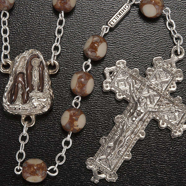 Ghirelli rosary, stone-like 7mm 4