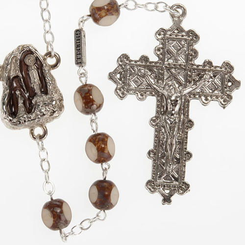 Ghirelli rosary, stone-like 7mm 1