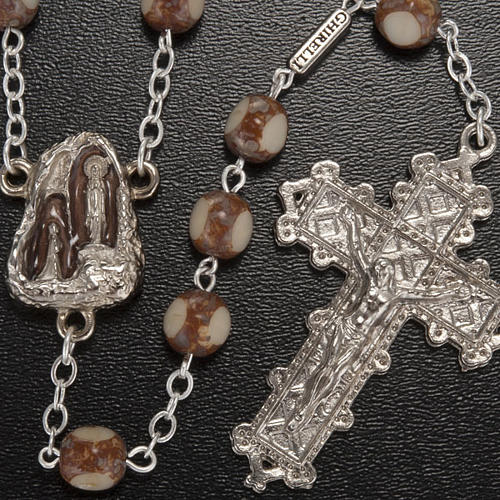 Ghirelli rosary, stone-like 7mm 2