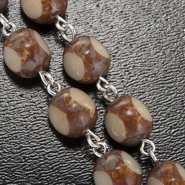 Różaniec Ghirelli Lourdes szkło typu kamień 7 mm 4