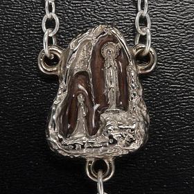Różaniec Ghirelli Lourdes szkło typu kamień 7 mm s3