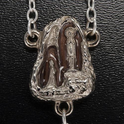 Różaniec Ghirelli Lourdes szkło typu kamień 7 mm 3