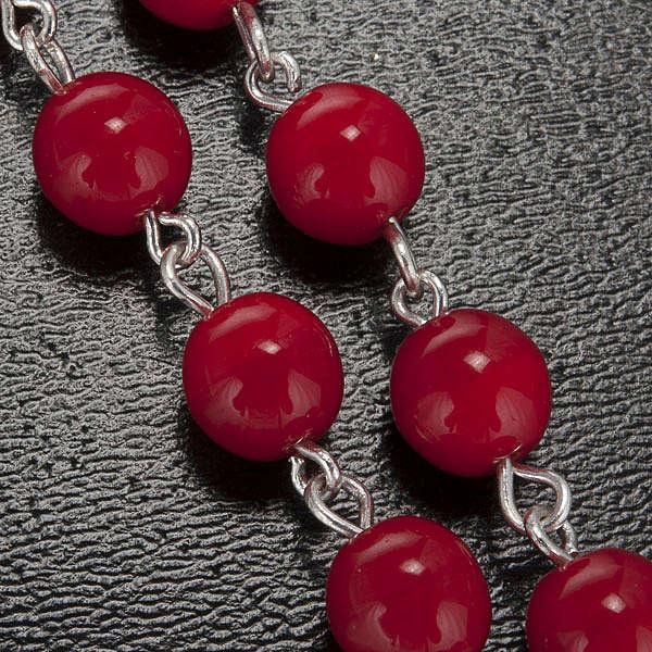 Chapelet Ghirelli Lourdes rouge 7 mm 4