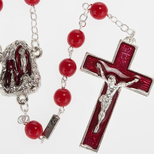 Chapelet Ghirelli Lourdes rouge 7 mm 1