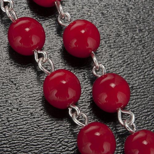 Chapelet Ghirelli Lourdes rouge 7 mm 5