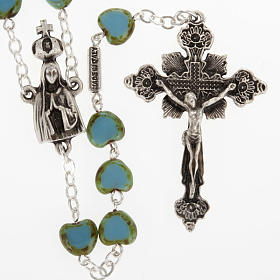 Ghirelli rosary, Fatima, heart 6x6mm s1