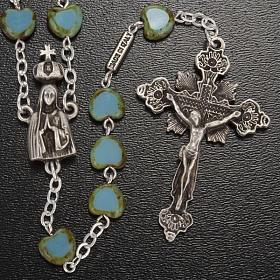 Ghirelli rosary, Fatima, heart 6x6mm s2