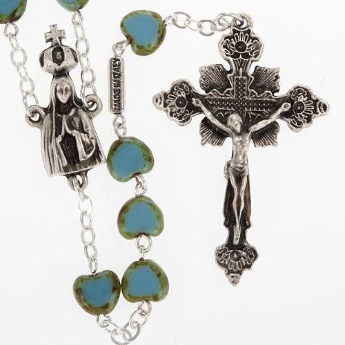Ghirelli rosary, Fatima, heart 6x6mm 1