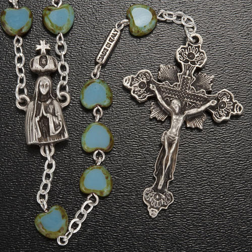 Ghirelli rosary, Fatima, heart 6x6mm 2