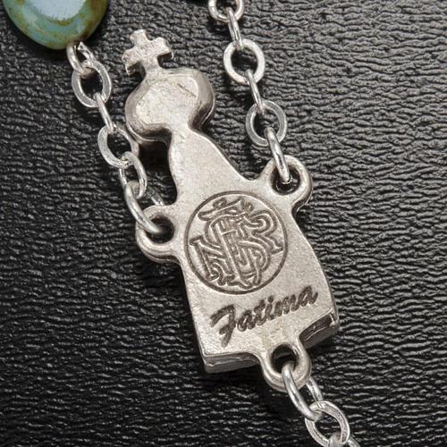 Ghirelli rosary, Fatima, heart 6x6mm 6