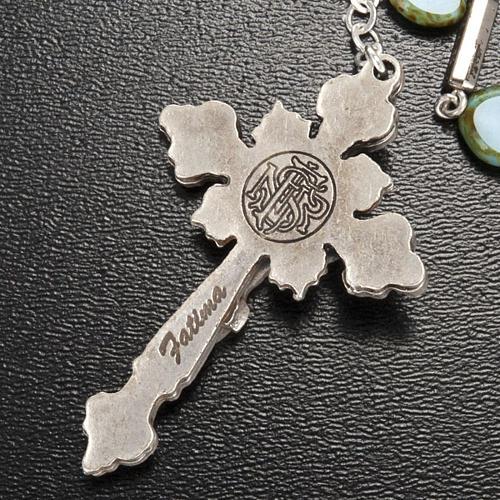 Ghirelli rosary, Fatima, heart 6x6mm 7