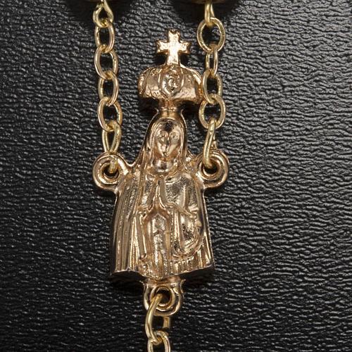 Rosario Ghirelli Fatima dorato 7 mm 3