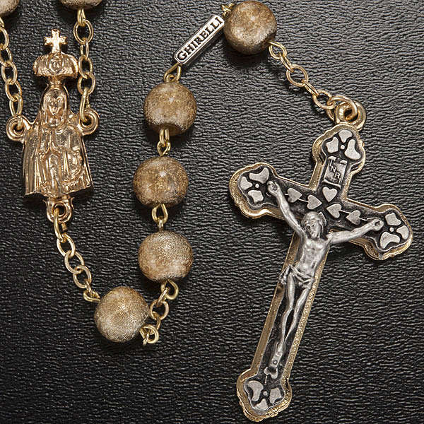 Ghirelli rosary, Fatima, golden 7mm 4