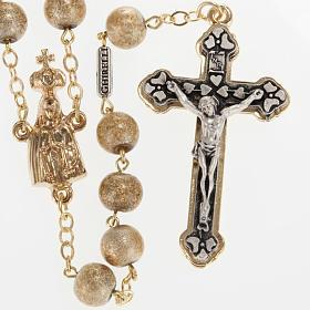 Ghirelli rosary, Fatima, golden 7mm s1
