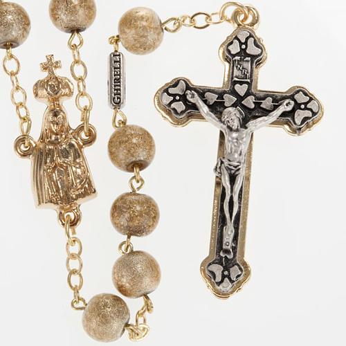 Ghirelli rosary, Fatima, golden 7mm 1