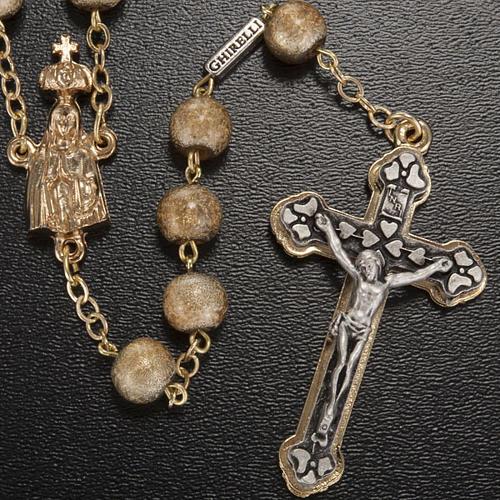 Ghirelli rosary, Fatima, golden 7mm 2