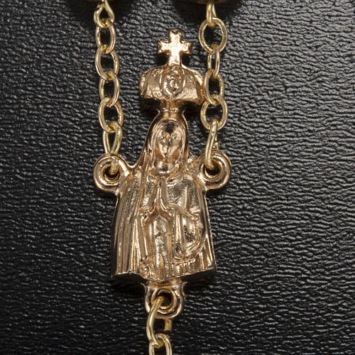 Ghirelli rosary, Fatima, golden 7mm 3