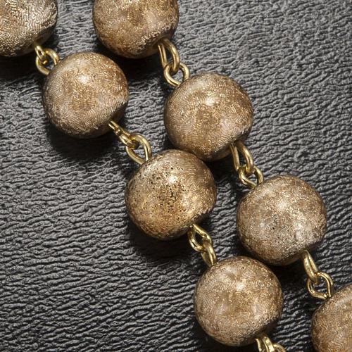 Ghirelli rosary, Fatima, golden 7mm 5