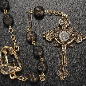 Ghirelli rosary, black with stripes 8mm s2