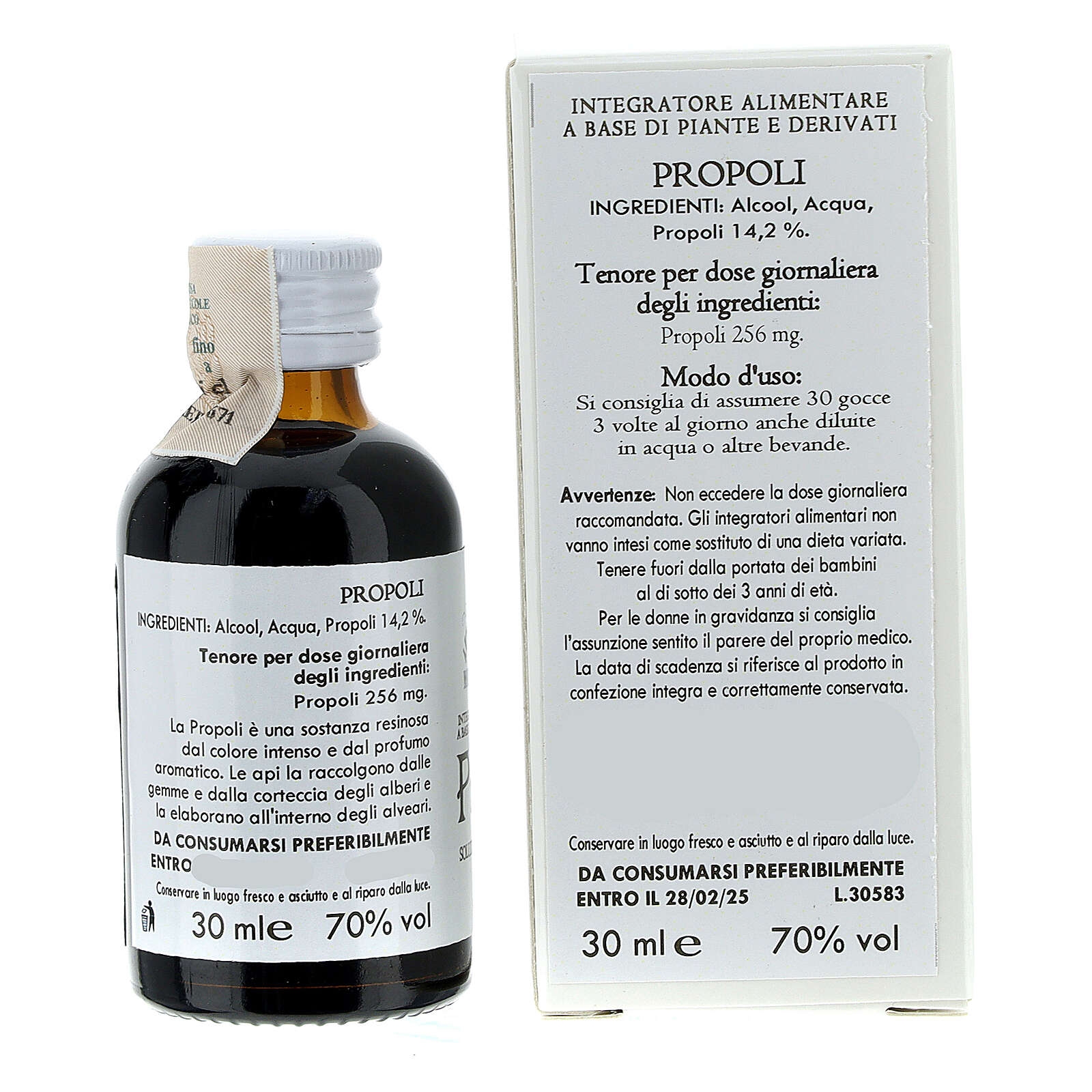 Camaldoli Propolis alcoholic solution 30ml 3