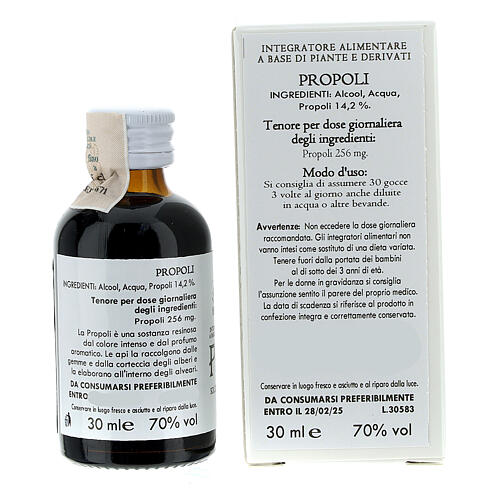 Camaldoli Propolis alcoholic solution 30ml 4